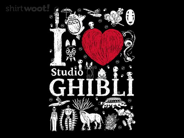 I Love Ghibli T Shirt