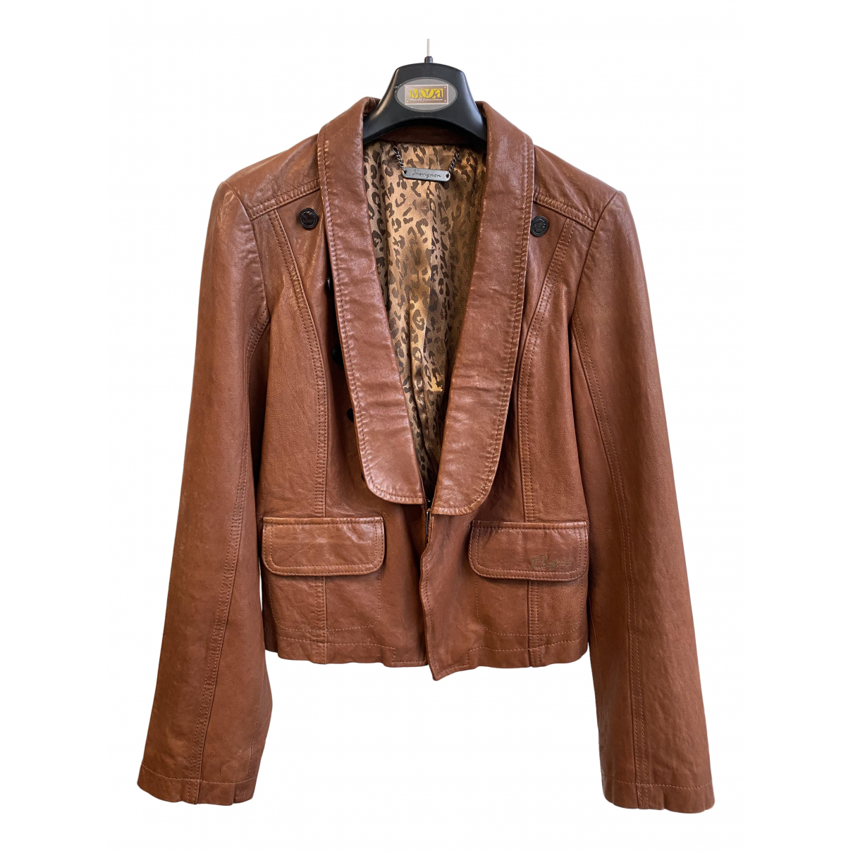 Chevignon N Brown Leather jacket for Women S International