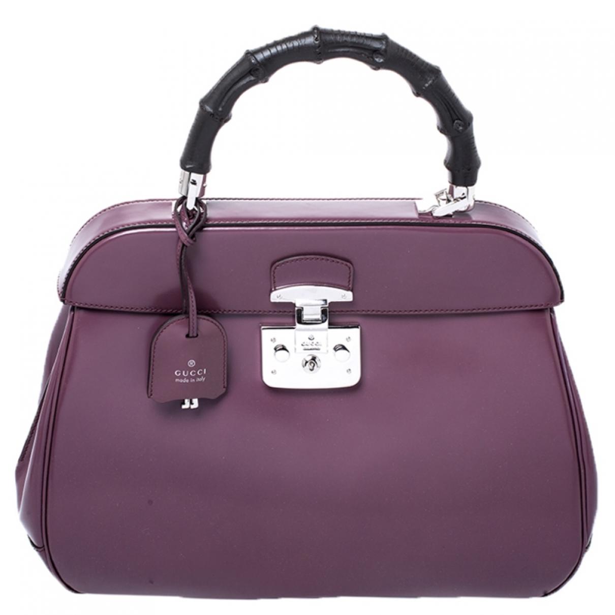 Gucci Lady Lock Handtasche in  Lila Leder