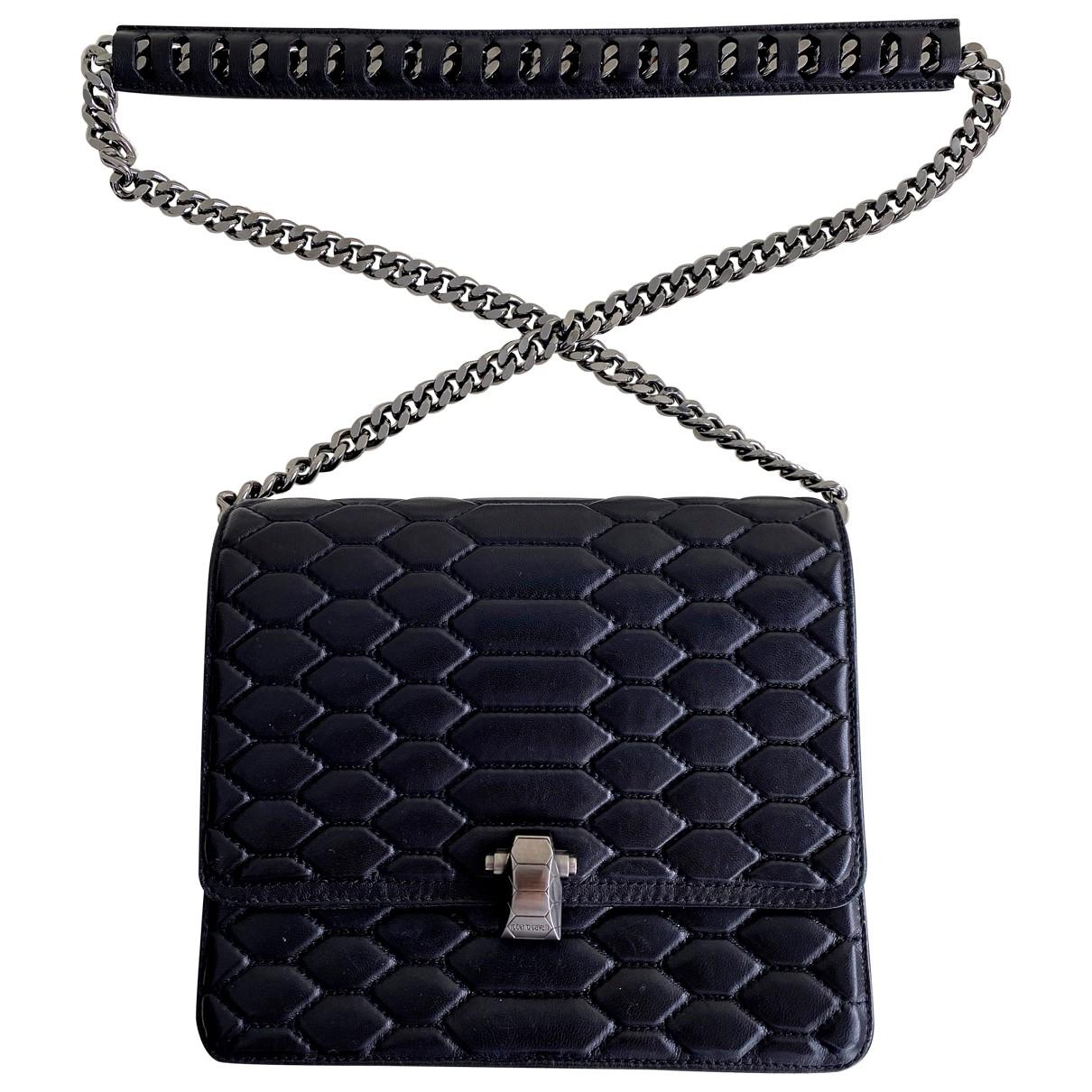 Roberto Cavalli \N Handtasche in  Schwarz Leder