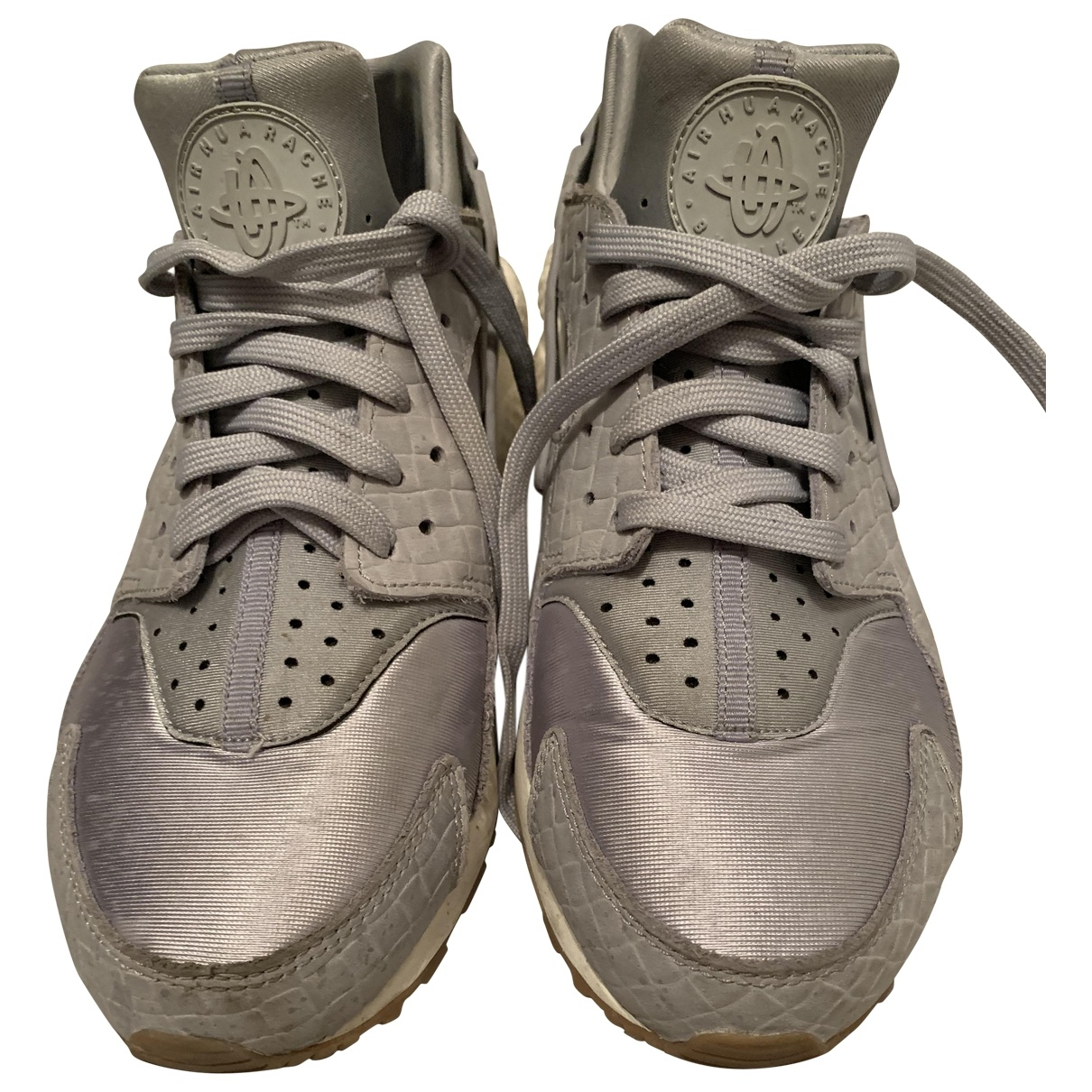 Nike Huarache Silver Cloth Trainers for Women 7.5 UK