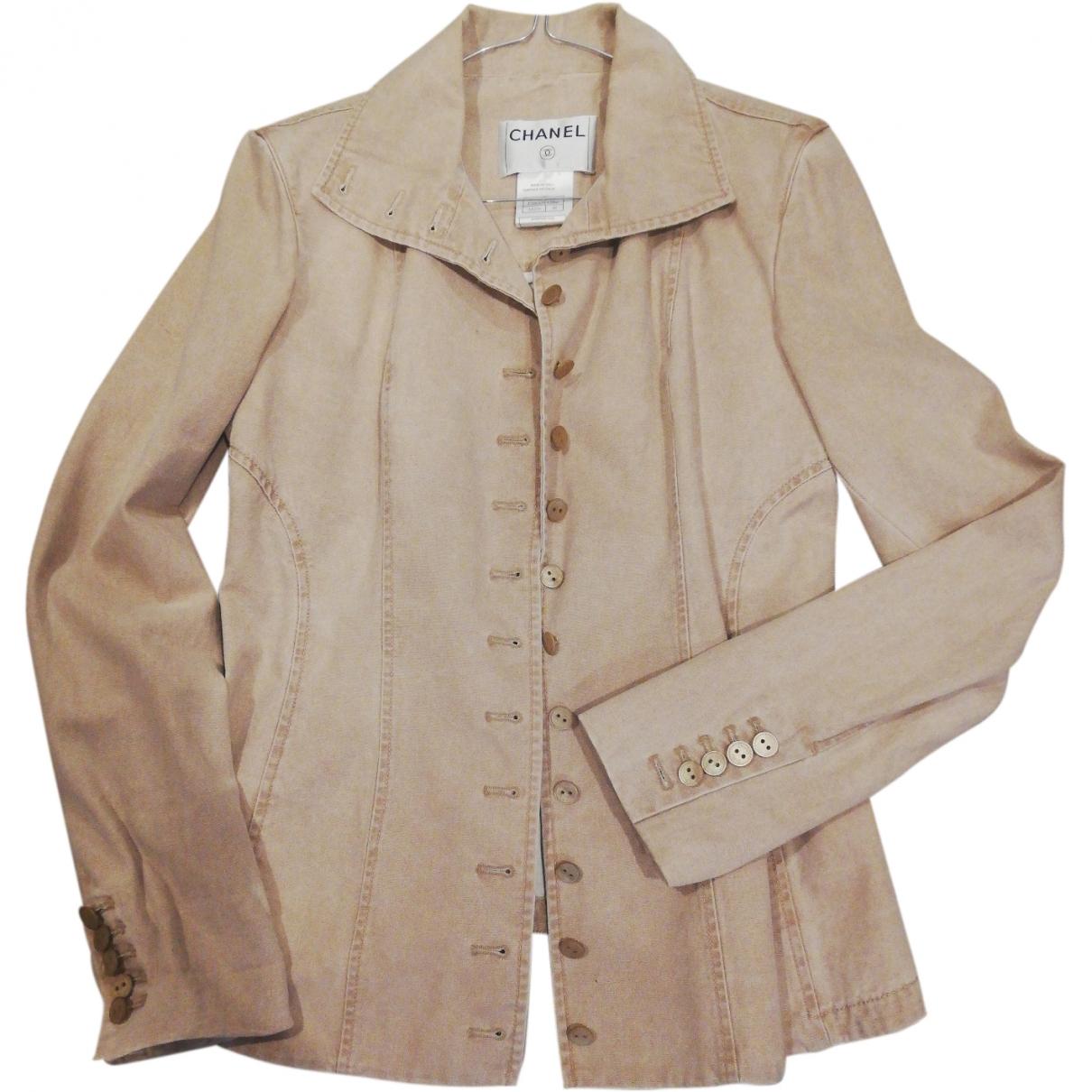 Chanel \N Beige Cotton jacket for Women 40 IT
