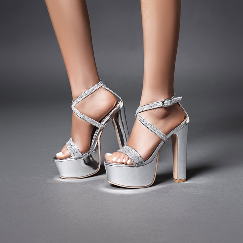 Ericdress Chunky Heel Buckle Open Toe Buckle Sandals