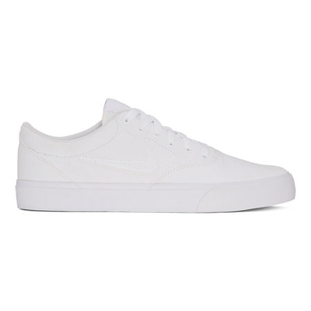 Nike Charge Mens Lace-up Skate Shoes, 10 1/2 Medium, White