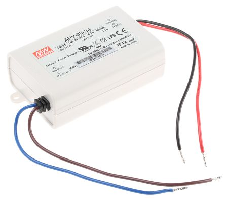 Mean Well Constant Voltage LED Driver 36W 24V