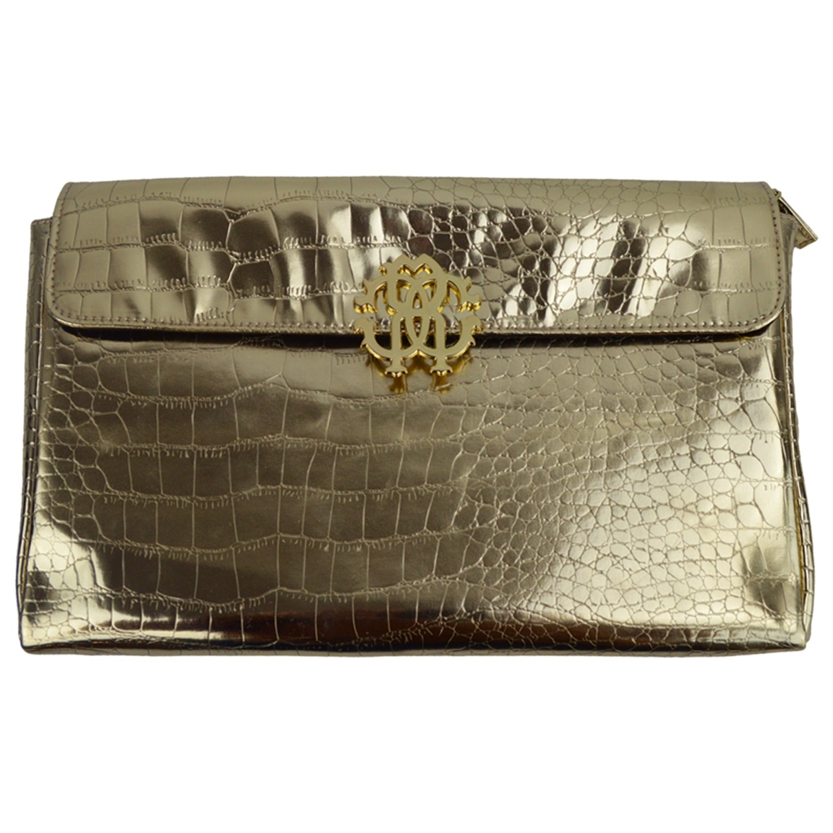 Roberto Cavalli \N Clutch in  Gold Synthetik