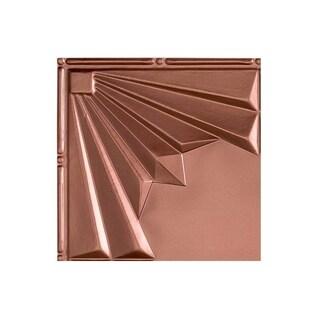 Fasade Art Deco Argent Copper 2 ft. x 4 ft. Glue-up Ceiling Tile (Sample)
