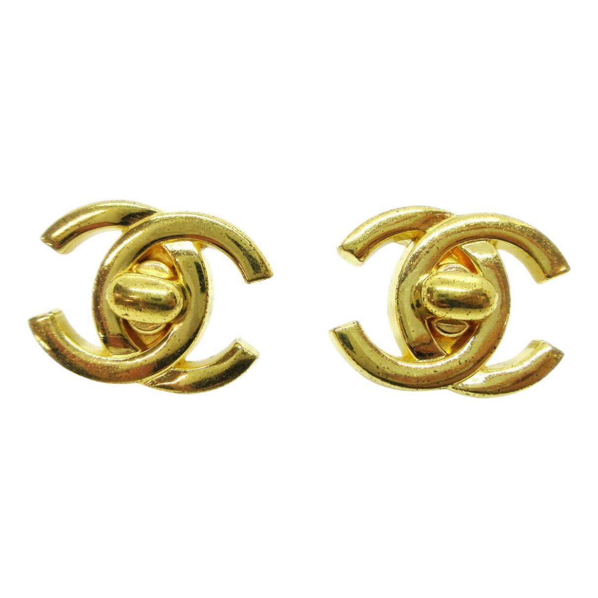 Chanel - Boucles doreilles CC pour femme en autre - marine