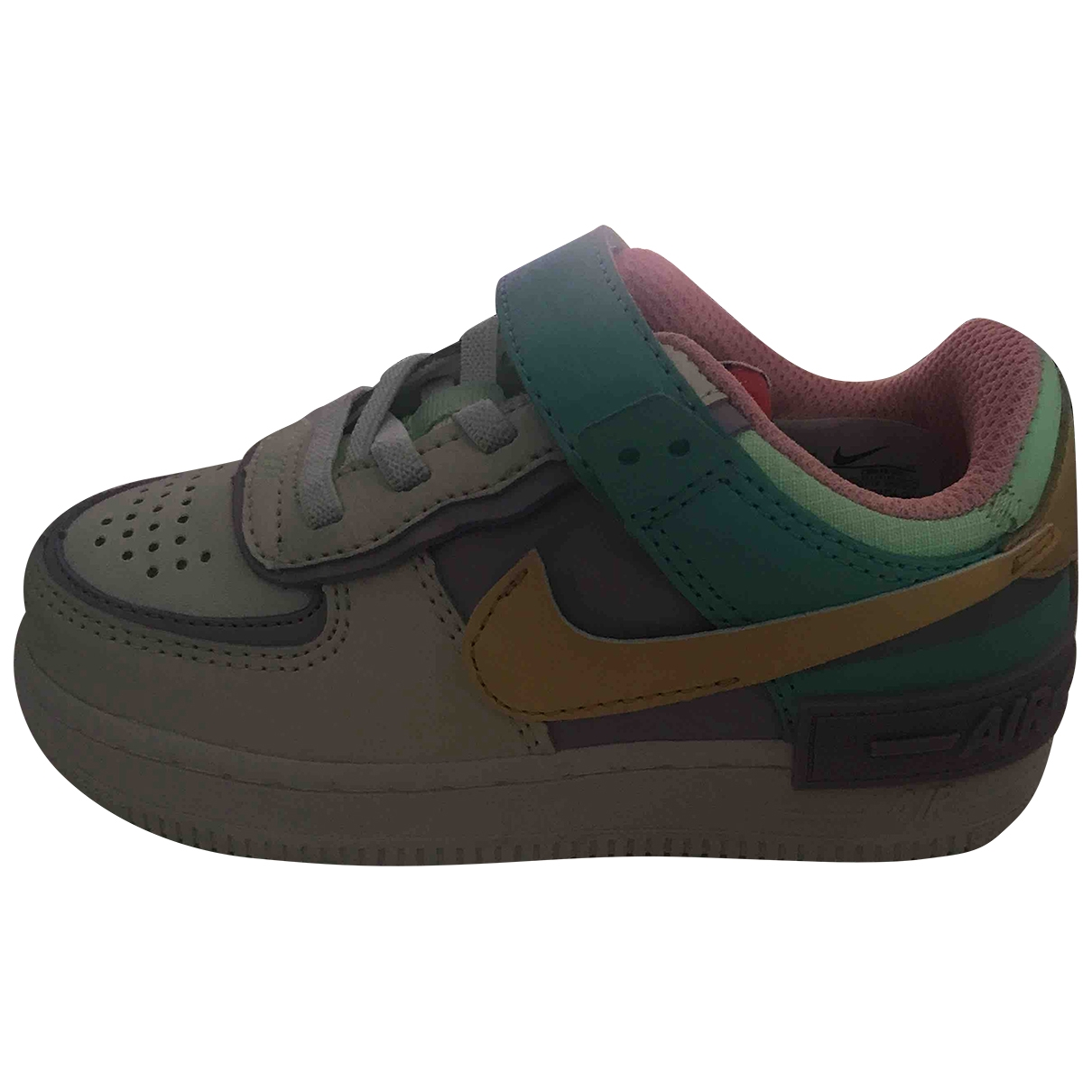 Nike Air Force 1 Multicolour Leather Trainers for Kids 26 EU