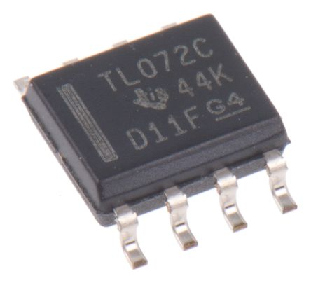 Texas Instruments TL072CD , Op Amp, 3MHz, 8-Pin SOIC (75)