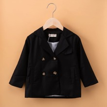 Toddler Girls Double-breasted Lapel Neck Blazer