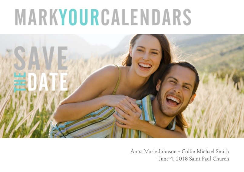 Save the Date 5x7 Cards, Premium Cardstock 120lb with Elegant Corners, Card & Stationery -Graphic Announcement