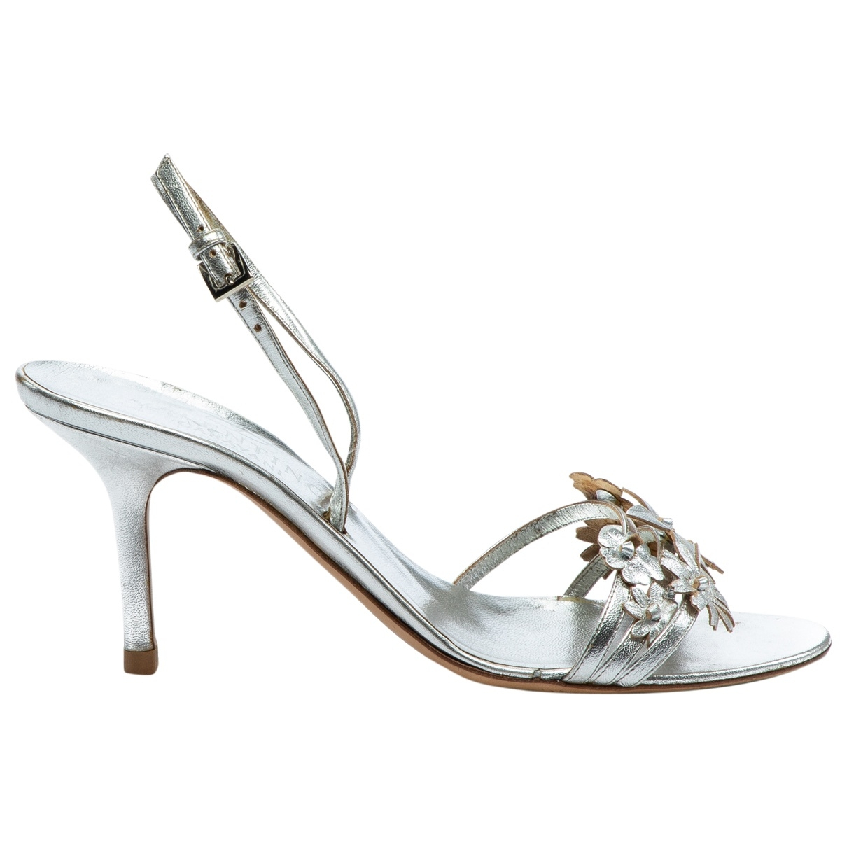 Valentino Garavani \N Silver Leather Sandals for Women 38.5 EU