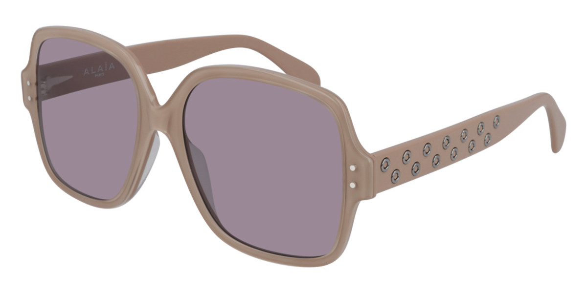 Azzedine Alaia AA0037S 003 Women's Sunglasses Brown Size 56