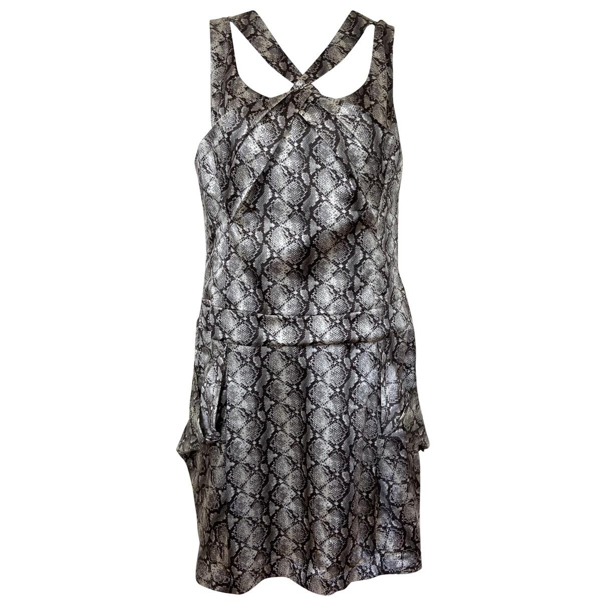 Karen Millen \N Brown Silk dress for Women 10 UK