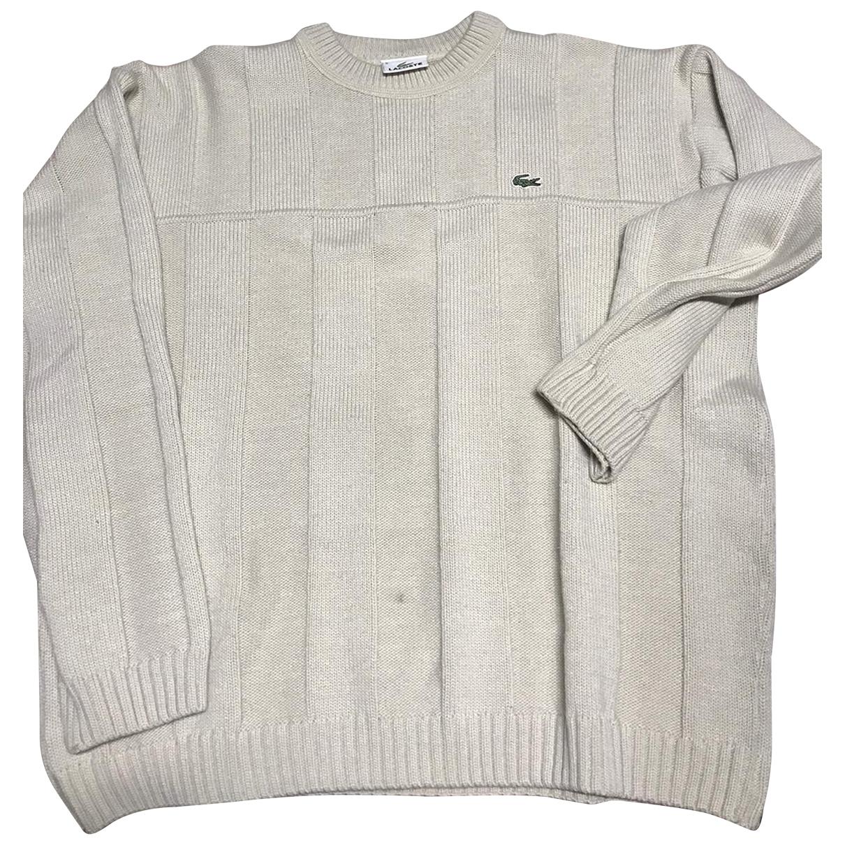 Lacoste \N Pullover.Westen.Sweatshirts  in  Beige Wolle
