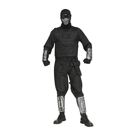 Fortnite Gaming Fighter Costume For Adults One Size Fits Most Mens Costume, One Size , Black
