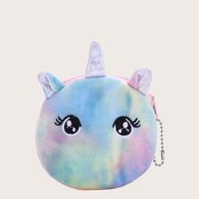 Monedero de acuarela de niñas con diseño de unicornio