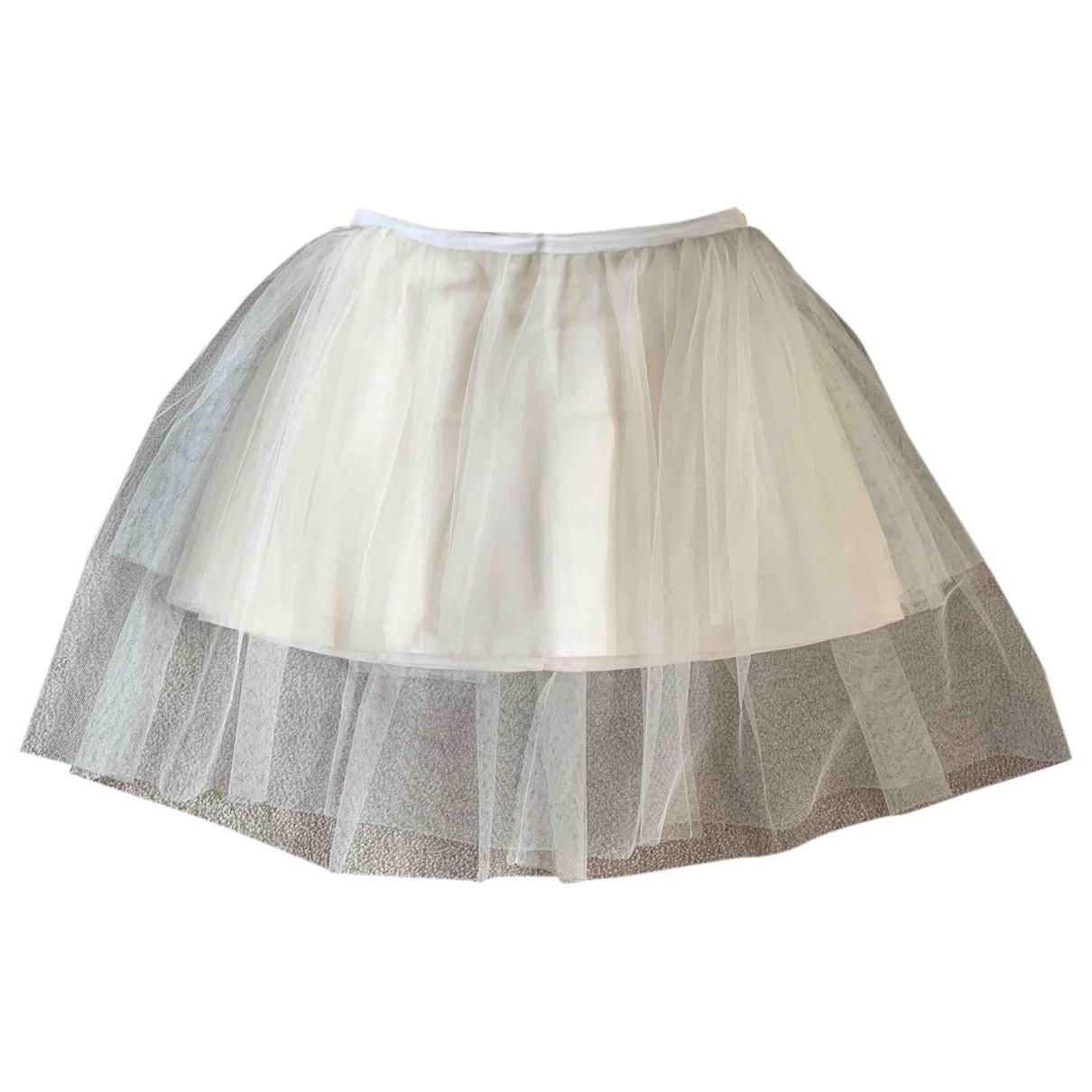 Dior \N White Silk skirt for Women 38 FR
