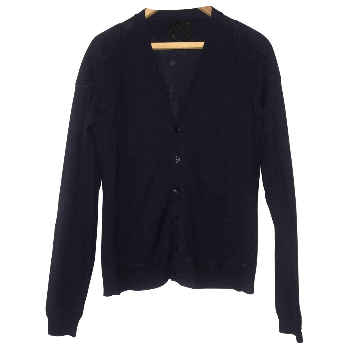 Burberry \N Pullover.Westen.Sweatshirts  in  Marine Wolle