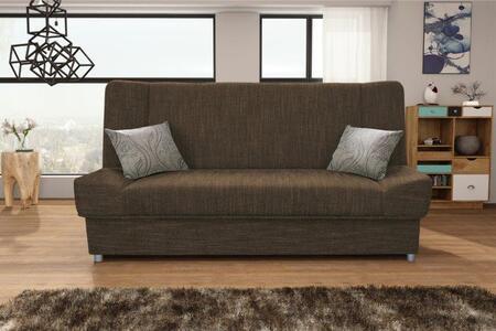 Natalia Collection NATALIABROWN Sofa Bed in Brown
