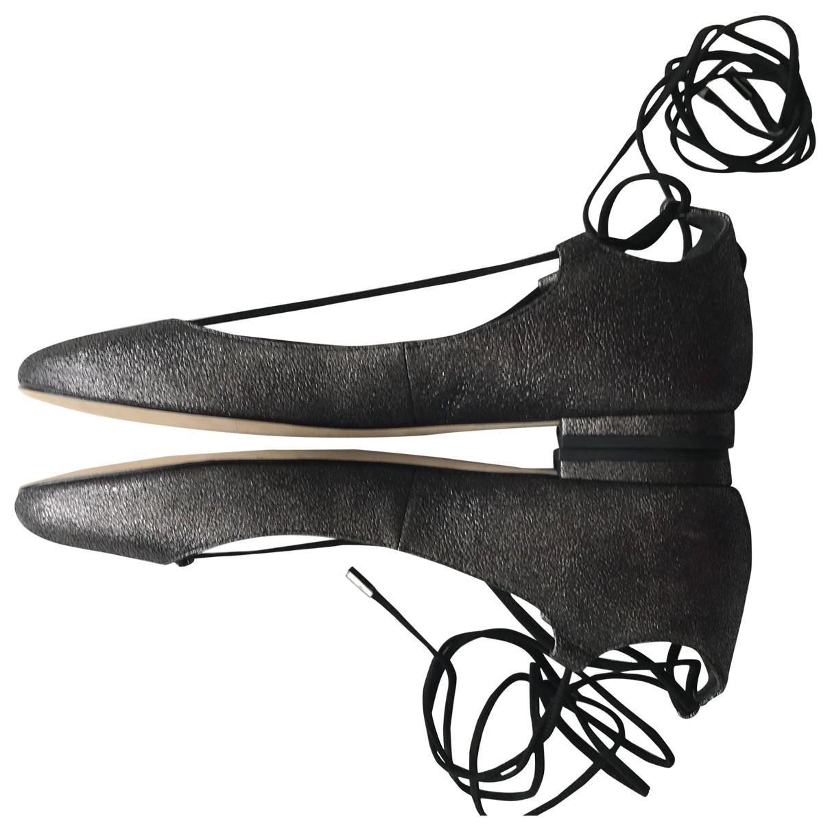 Diane Von Furstenberg - Ballerines   pour femme en cuir - gris