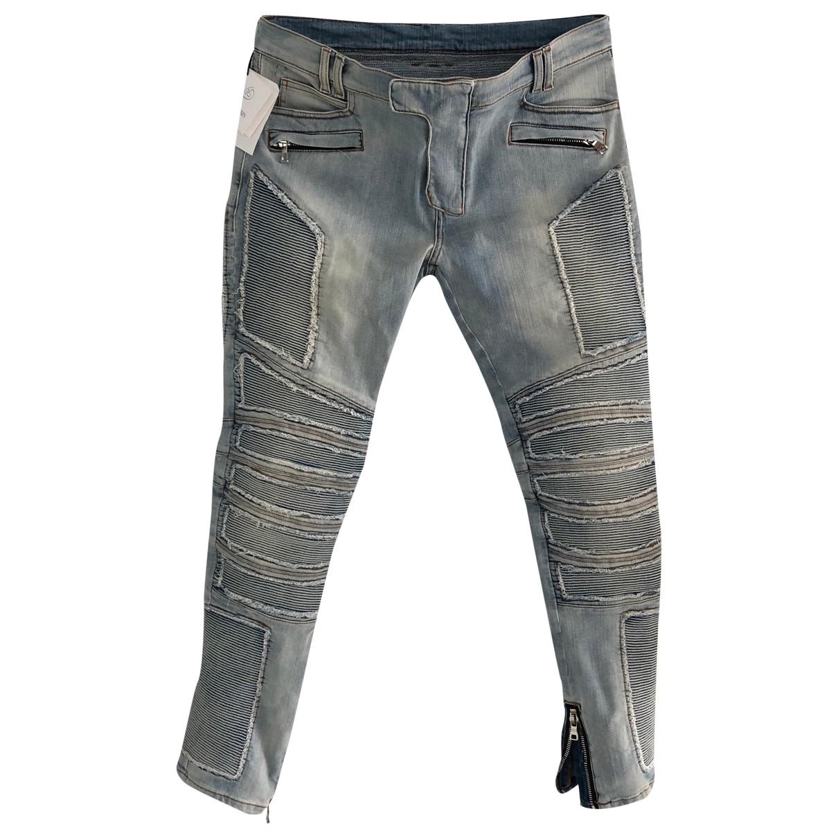 Balmain - Jean   pour homme en coton - elasthane - bleu
