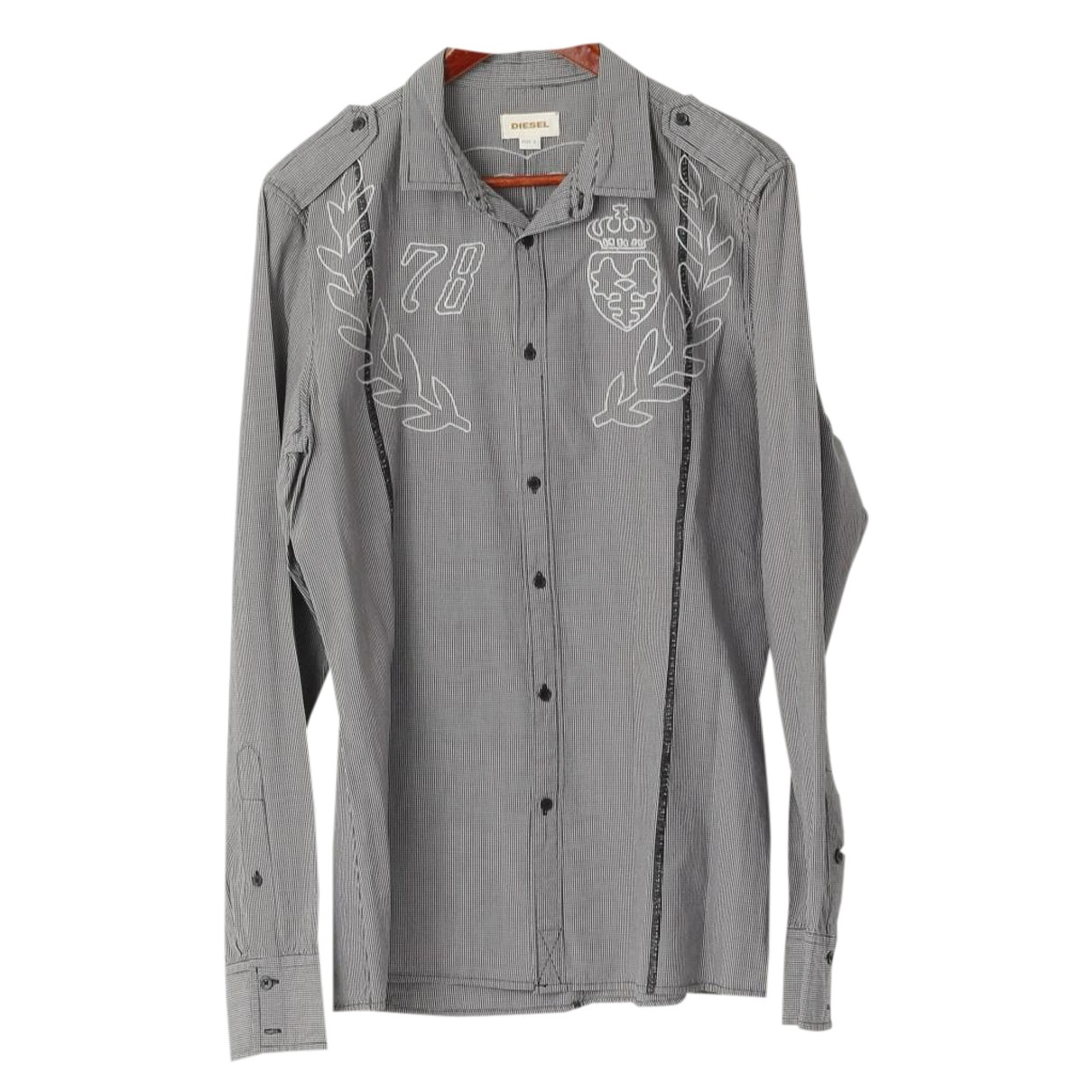 Diesel N Black Cotton Shirts for Men L International