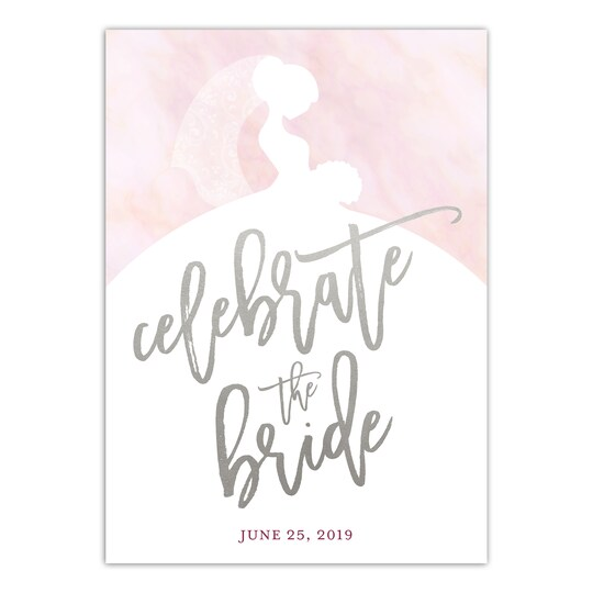 Gartner Studios® Personalized Silhoutted Bride Bridal Shower Invitation | Michaels®