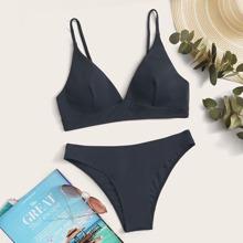 Seam Detail Bikini Swimsuit
