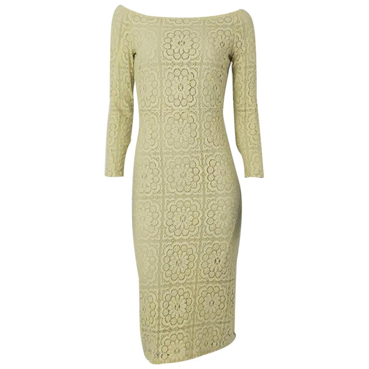 Burberry \N Kleid in  Gelb Polyester