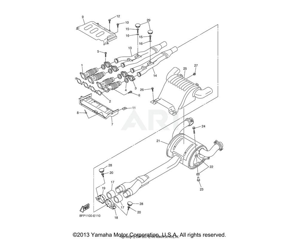 Yamaha OEM 8FS-14708-00-00 PROTECTOR ASSY