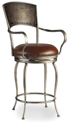 Zinfandal 300-20024 30 Barstool with Memory Swivel  Etched Metal Back and Top Grain Leather Upholstery in