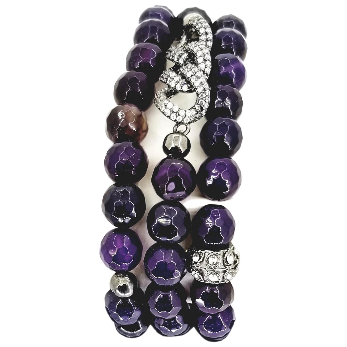 Non Signe / Unsigned Lapis lazuli Armband in  Bunt Jade