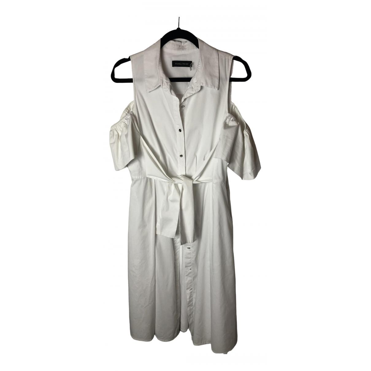 Ivanka Trump \N Kleid in  Weiss Baumwolle