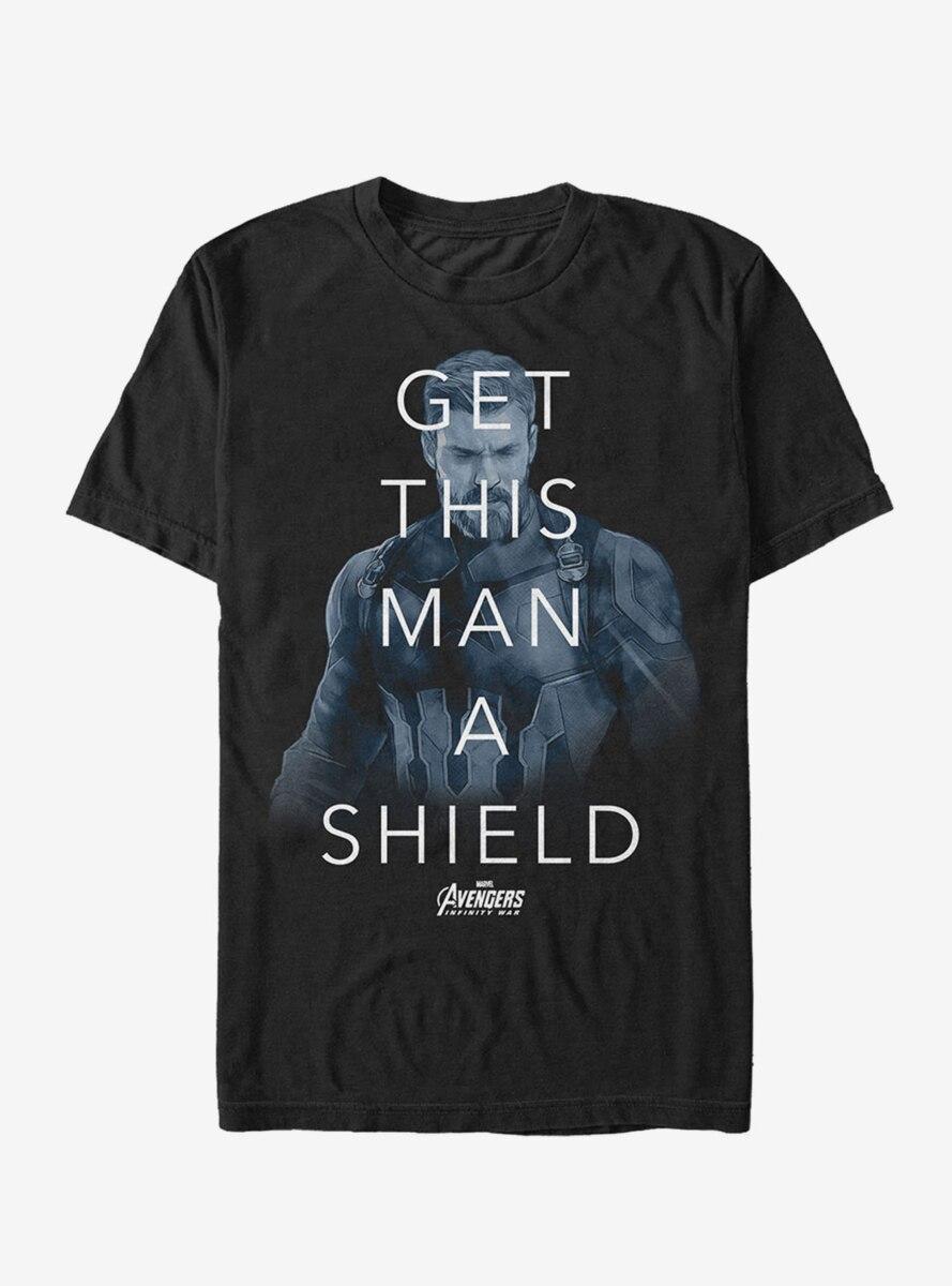 Marvel Avengers: Infinity War Get Man Shield Quote T-Shirt
