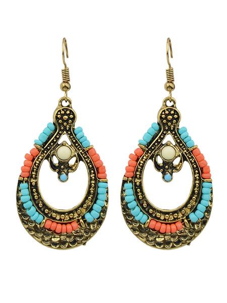 Milanoo Boho Dangle Earrings Hollow Out Drop Earrings