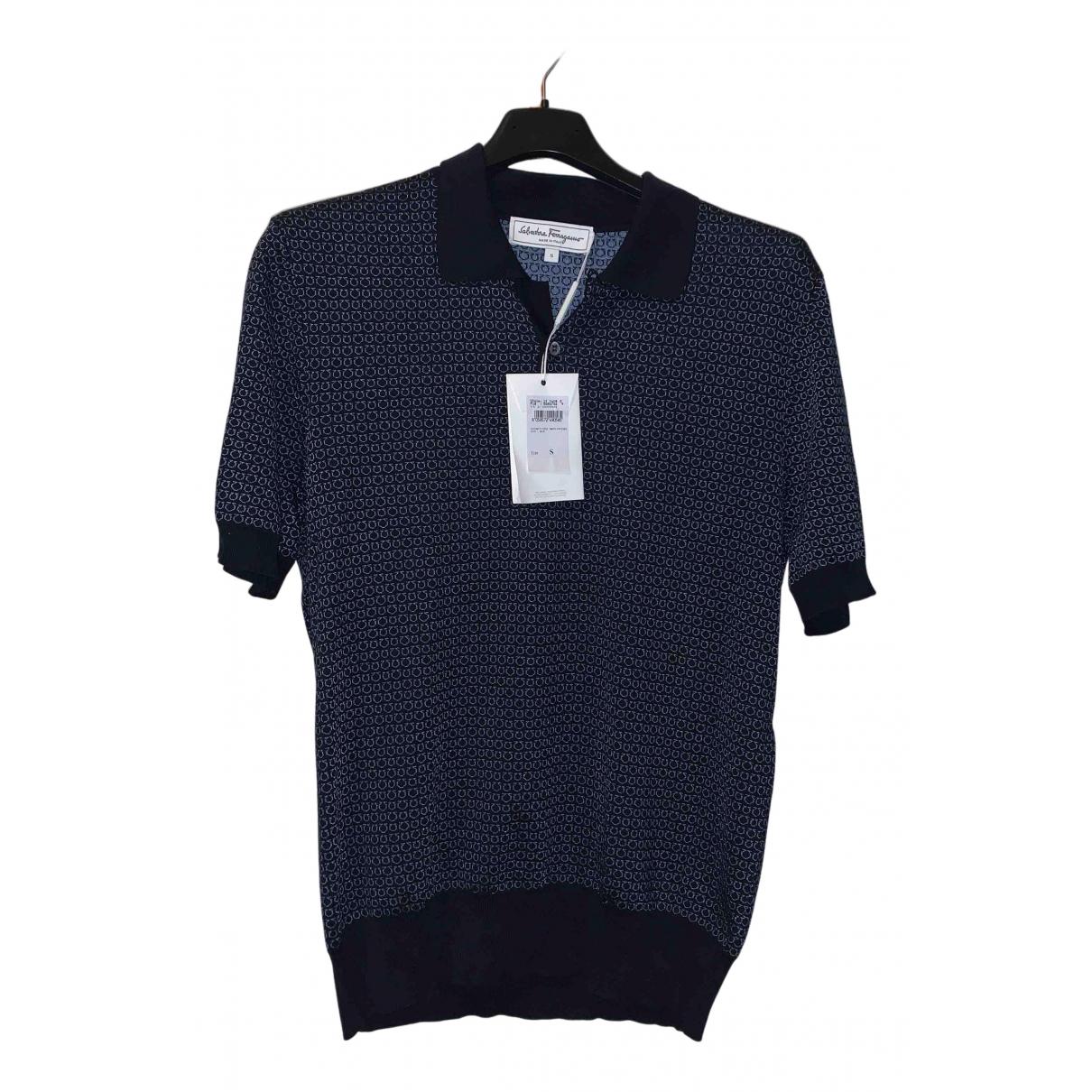 Salvatore Ferragamo - Polos   pour homme en coton - bleu