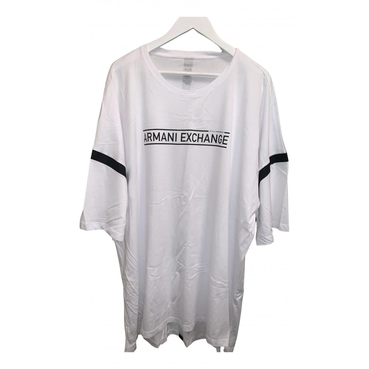 Emporio Armani N White Cotton T-shirts for Men XXXL International