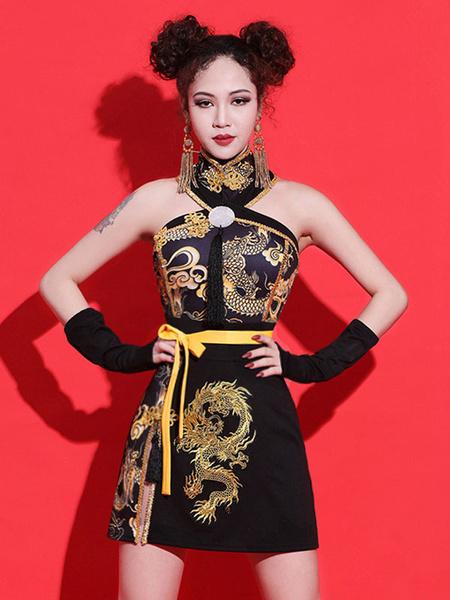Milanoo Jazz Dance Costumes Chinese Dragon Dancing Wear