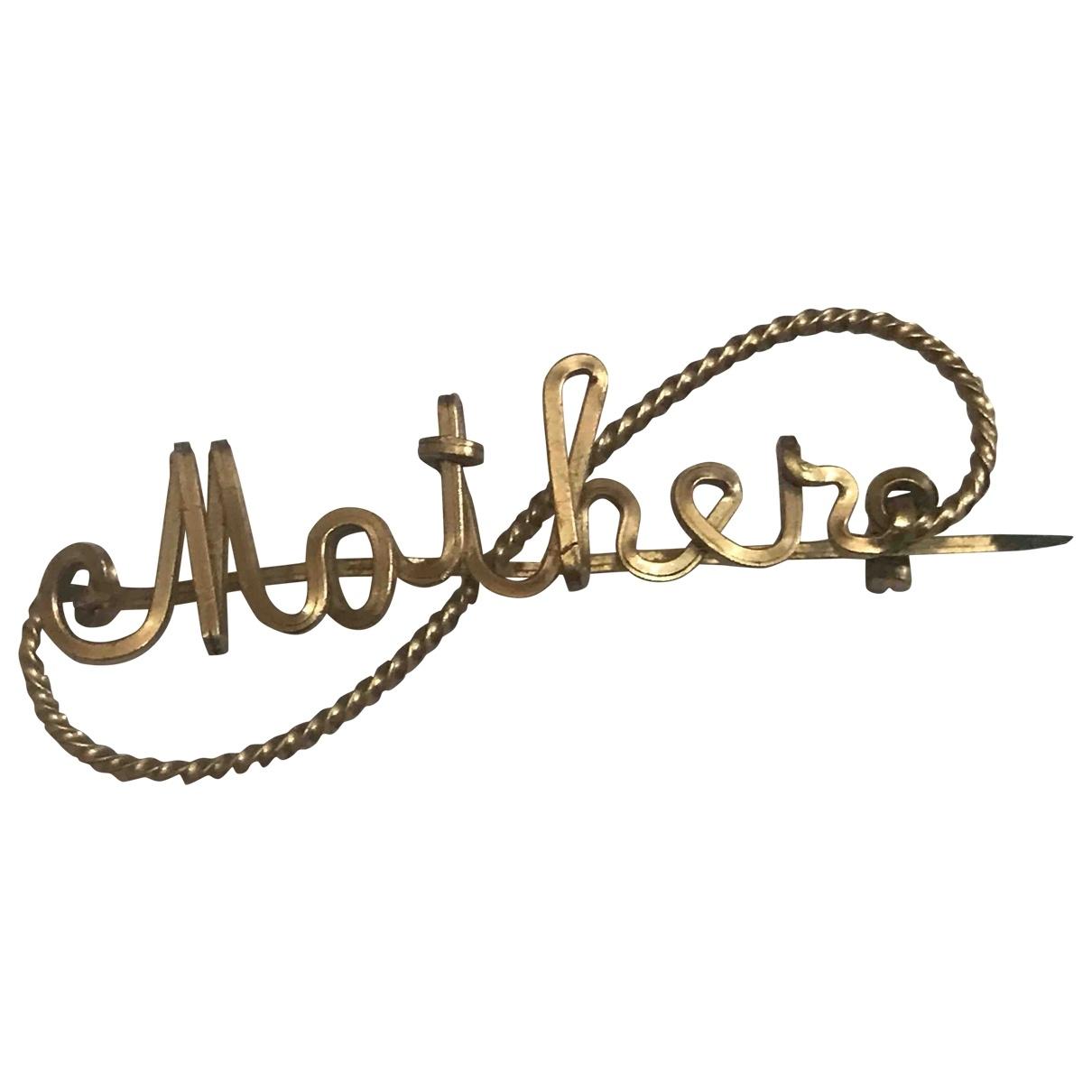 - Broche Motifs Lettres pour femme en plaque or - dore