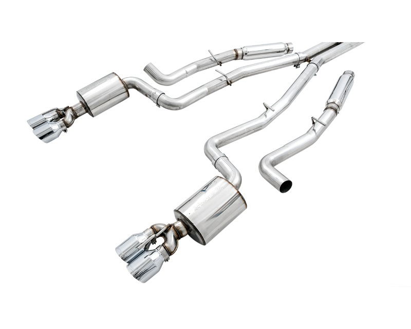 AWE Touring Edition Exhaust Non-Resonated Stock Tips Dodge Challenger 5.7 2015-2021