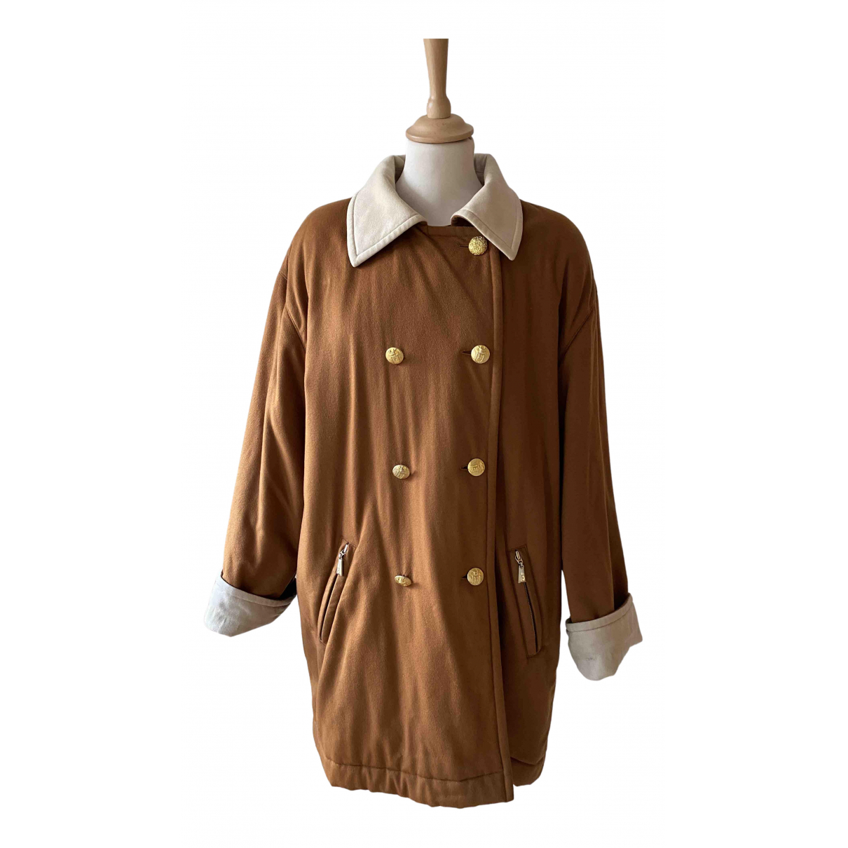 Escada N Camel Cashmere coat for Women 38 FR