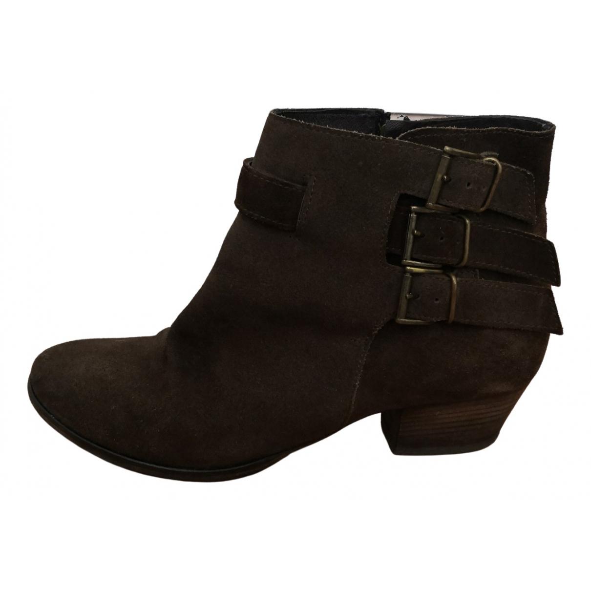 Maje - Boots   pour femme en suede - marron