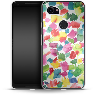 Google Pixel 2 XL Silikon Handyhuelle - Abstract Spring Colorful von Ninola Design