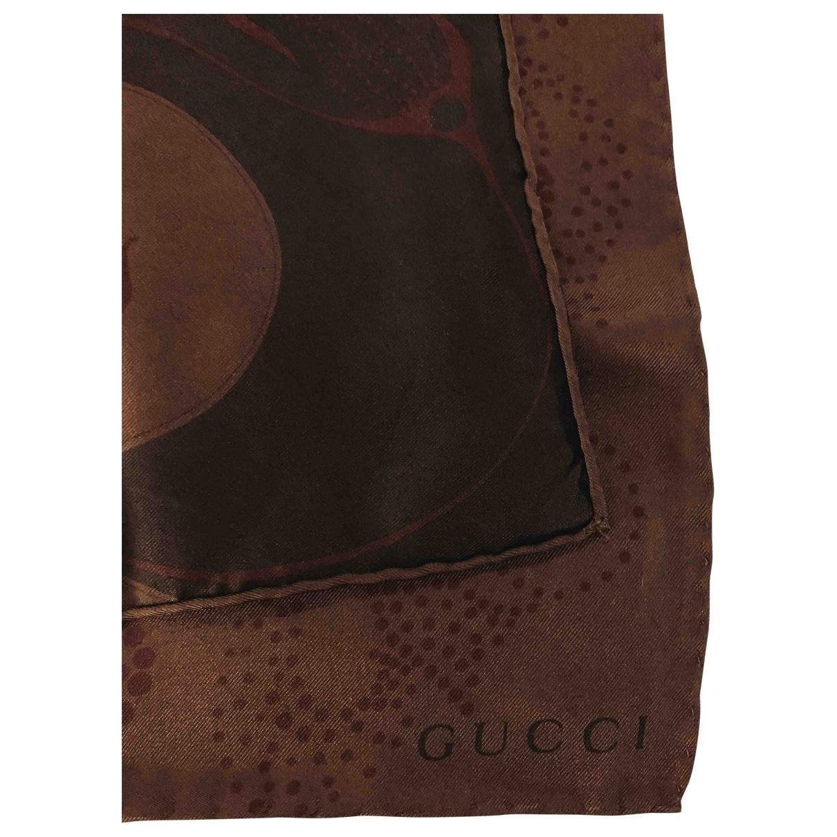 Gucci \N Schal in  Braun Seide