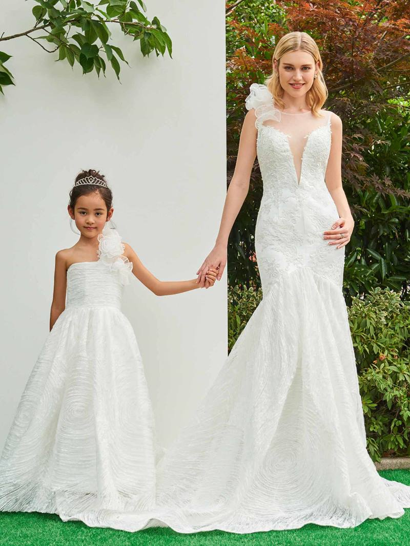 Ericdress Straps 3D Flowers Mermaid Appliques Wedding Dress