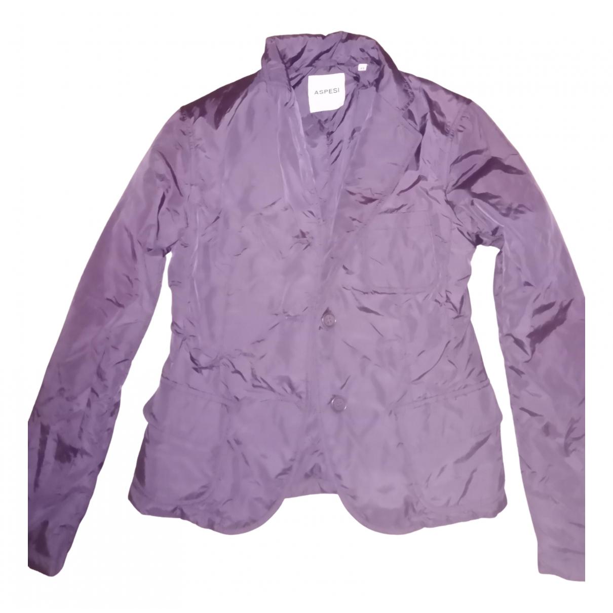 Aspesi - Blouson   pour femme en coton - violet