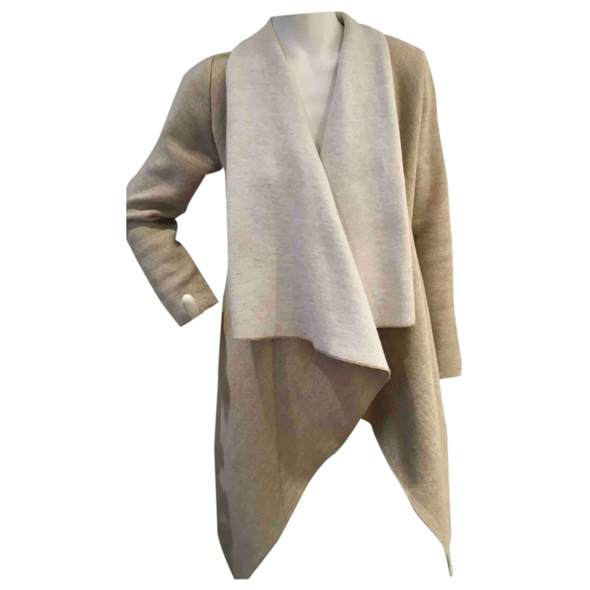 Zara - Pull   pour femme en laine - beige