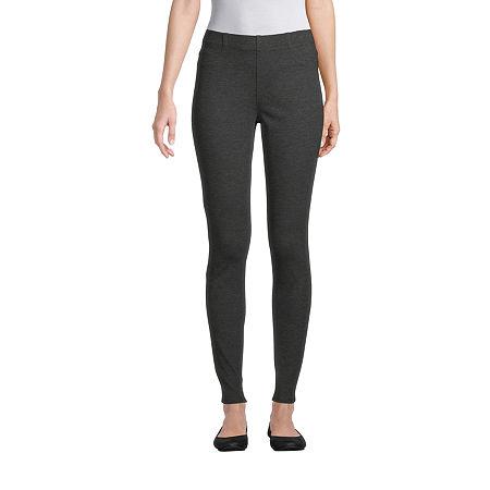 St. John's Bay Womens Full Length Leggings, Medium , Gray